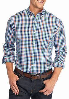 Saddlebred Big & Tall Long Sleeve Small Gingham Shirt