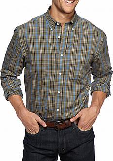 Saddlebred Big & Tall Long Sleeve Plaid Easy Care Shirt