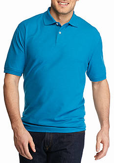 Saddlebred Big & Tall Short Sleeve Solid Pique Polo Shirt