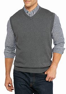 Saddlebred Big & Tall Solid Jersey Sweater Vest