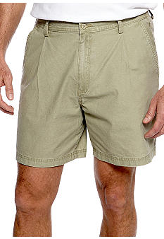 Saddlebred Big & Tall Pigment Sheeting Pleated Shorts