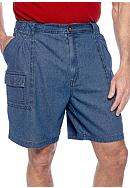 Saddlebred® Big & Tall Denim Hiker Shorts