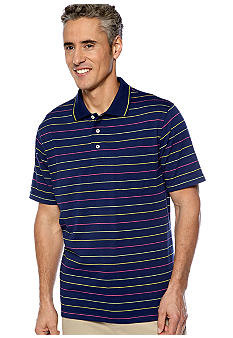 Saddlebred® Stripe Jersey Pocket Polo