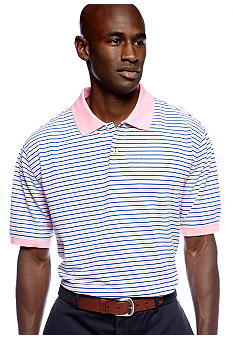 Saddlebred Stripe Pique Polo Shirt