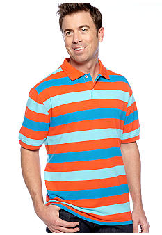 Saddlebred Stripe Pique Polo