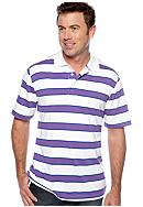 Saddlebred® Stripe Jersey Polo