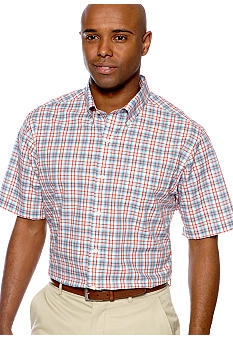 Saddlebred Wrinkle Free Plaid Woven Shirt
