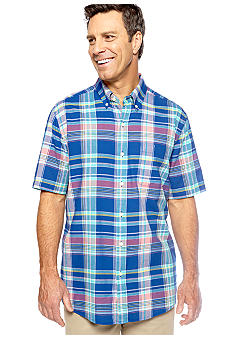 Saddlebred Plaid Madras Woven Shirt