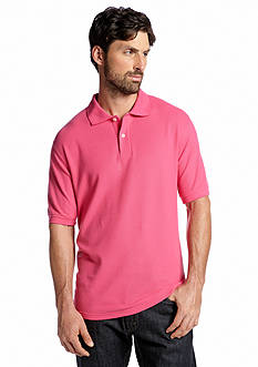 Saddlebred® Short Sleeve Solid Pique Polo