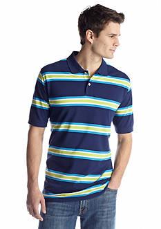 Saddlebred® Short Sleeve Stripe Pique Polo