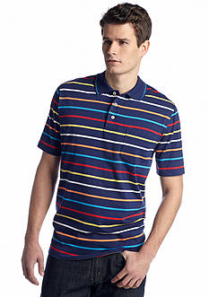 Saddlebred® Short Sleeve Stripe Jersey Polo