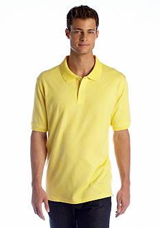 Saddlebred® Short Sleeve Printed Argyle Polo
