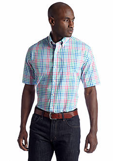 Saddlebred® Short Sleeve Wrinkle-Free Woven Shirt