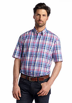 Saddlebred® Short Sleeve Button-Front Woven Shirt