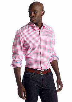 Saddlebred® Long Sleeve Ginghman Oxford Shirt