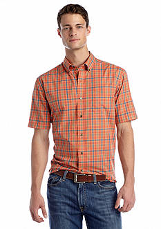 Saddlebred® Short Sleeve Wrinkle Free Woven Shirt