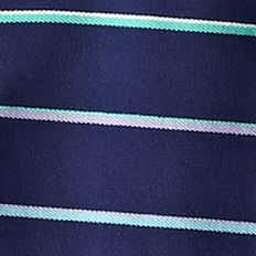 Mens Short Sleeve Polo Shirts: Navy Multi Saddlebred Short Sleeve Stripe Pique Polo