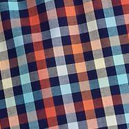 St Patricks Day Outfits For Men: Navy/Orange Saddlebred Short Sleeve Wrinkle Free Plaid Woven Shirt