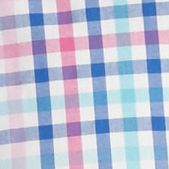 St Patricks Day Outfits For Men: Pink/Blue Saddlebred Short Sleeve Wrinkle Free Plaid Woven Shirt