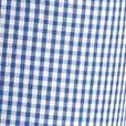St Patricks Day Outfits For Men: Dark Blue Mini Gingham Saddlebred Short Sleeve Gingham Easy Care Woven Shirt