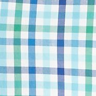 St Patricks Day Outfits For Men: Blue Gingham Saddlebred  1888 Long Sleeve Tailored Fit Gingham Poplin Woven Shirt
