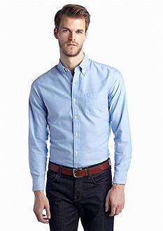 Saddlebred 1888 Long Sleeve Solid Tailored Oxford Shirt