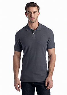 Saddlebred Short Sleeve Tailored Fit Solid Pique Polo