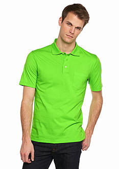 Saddlebred Short Sleeve Solid Jersey Polo Shirt