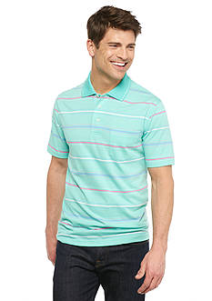 Saddlebred Short Sleeve Multi Strip Jersey Polo Shirt