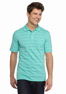 Saddlebred Short Sleeve Basic Stripe Jersey Polo Shirt