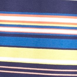 Saddlebred Men: Navy Multi Saddlebred Short Sleeve Stripe Pique Polo Shirt
