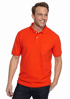 Saddlebred Short Sleeve Pocket Pique Polo Shirt