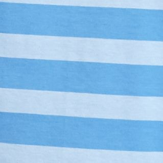 Short Sleeve T-shirts for Men: Blu Tonal Saddlebred Short Sleeve Rugby Striped Tee