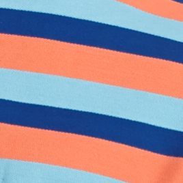 Men: Short Sleeve Sale: Blue/Orange Saddlebred Short Sleeve Stripe Pocket Pique Polo Shirt