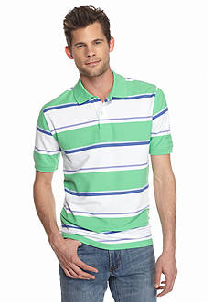 Saddlebred Short Sleeve Stripe Pique Polo Shirt