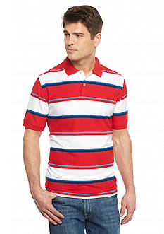 Saddlebred Short Sleeve Stripe Pique Polo Shirt