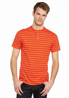 Saddlebred 1888 Tailored Fit Stripe Henley Shirt