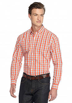 Saddlebred 1888 Tailored Poplin Plaid Shirt