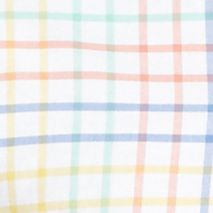Men: Saddlebred Casual Shirts: White Multi Saddlebred Long Sleeve Plaid Oxford Shirt