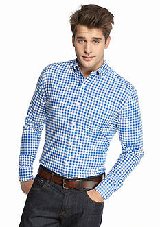 Saddlebred 1888 Gingham Tailored Oxford Shirt