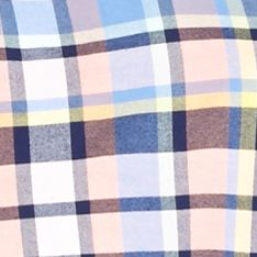 Men: Saddlebred Casual Shirts: Peach Multi Saddlebred Long Sleeve Plaid Oxford Shirt
