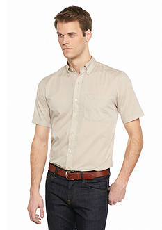 Saddlebred Short Sleeve Solid Woven Shirt