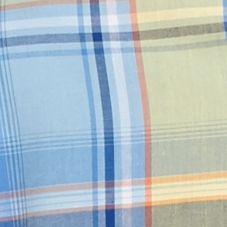 Men: Saddlebred Trends: Yellow/Blue Saddlebred Short Sleeve Plaid Woven Shirt