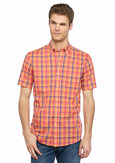 Saddlebred Short Sleeve Plaid Woven Shirt