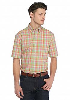 Saddlebred Short Sleeve Gingham Woven Shirt