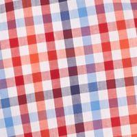 Men: Saddlebred Trends: White/Red/Blue Saddlebred Short Sleeve Gingham Woven Shirt