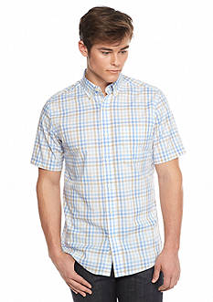 Saddlebred Short Sleeve Easy Care Gingham Woven Shirt