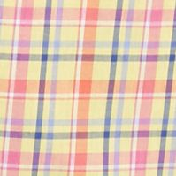 Non Iron: Casual Shirts: Yellow/Orange Saddlebred Short Sleeve Wrinkle Free Medium Plaid Shirt