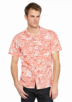 Saddlebred Short Sleeve Printed Woven Shirt