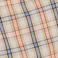 Men: Short Sleeves Sale: Khaki Plaid Saddlebred Short Sleeve Easy-Care Plaid Woven Shirt